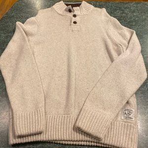 Aeropostale Tan Men's Button Up Sweater Size XL